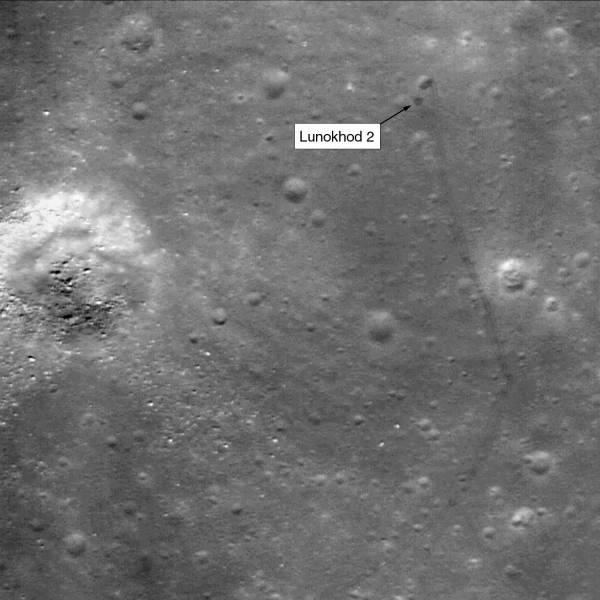 «Луноход-2» в изображениях с LRO. Фото University of Western Ontario