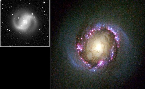 Кольцо в галактике NGC 4314