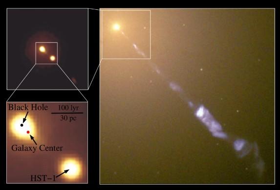 Астрономами обнаружена смещенная из центра галактики сверхмассивная черная дыра