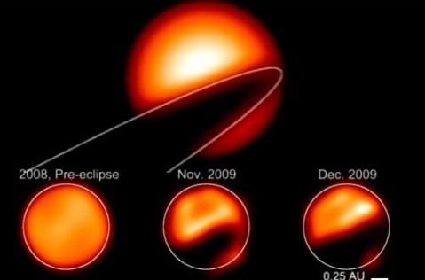 Астрономы получили изображение таинственного объекта, который затмил звезду Эпсилон Возничего (+видео)