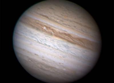 Фотография Юпитера сделанная 9 мая 2010 года астрономом-любителем Энтони Уэсли из Австралии.