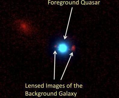Изображение квазара SDSS J0013+1523