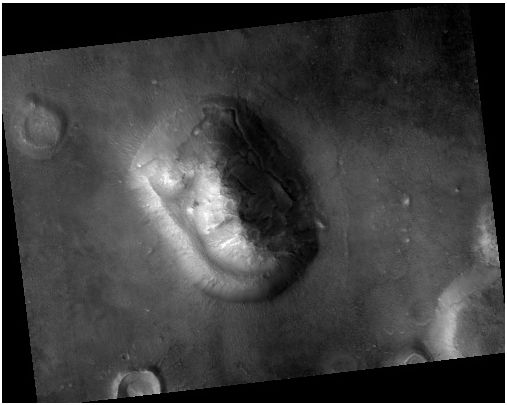 "Фотография""Лицо на Марсе"" сделанная HiRISE в 2007 года. Фото NASA/JPL/University of Arizona"