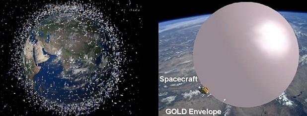 Для утилизации спутников будут использованы воздушные шары