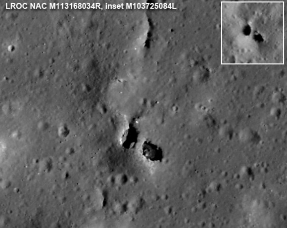Лунные мосты. Фото NASA / GSFC / Arizona State University