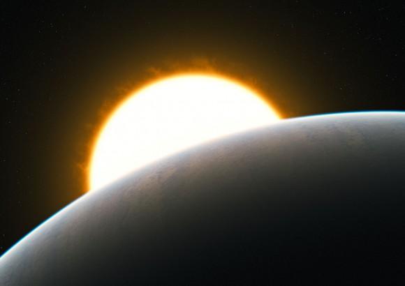 Экзопланета HD209458b глазами художника. Иллюстрация ESO.