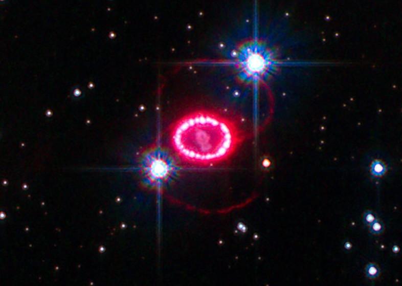 Hubble supernova 1987a