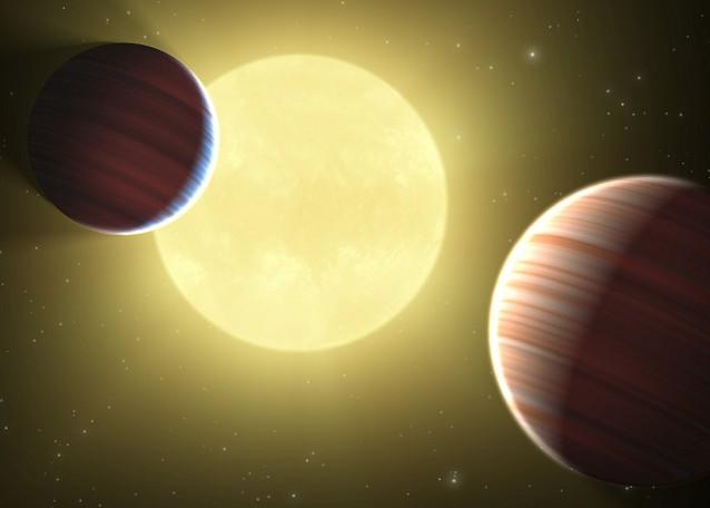 Система звезды Kepler-9 глазами художника. Иллюстрация NASA/Ames/JPL-Caltech