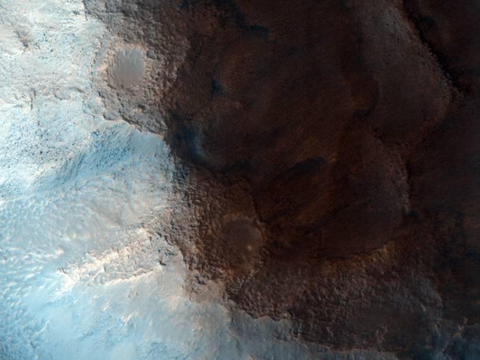 """Область Цидония (Cydonia) с """"Лицом на Марсе"""" глазами камеры HiRISE. Фото NASA/JPL/University of Arizona"""