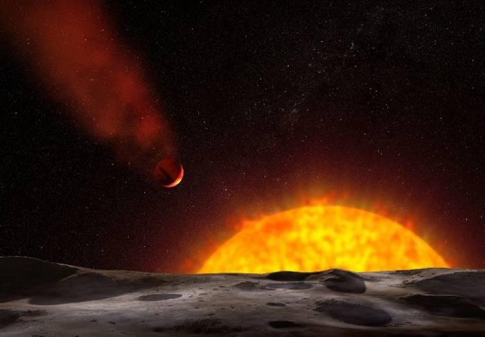 Экзопланета HD 209458b глазами художника. Иллюстрация NASA, ESA, and G. Bacon (STScI)