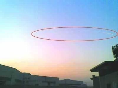 НЛО над аэропортом в Китае 2