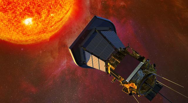 Solar Probe Plus собирает данные по мере приближения к Солнцу. Его солнечные панели защищены специальным экраном. Иллюстрация: JHU/APL.
