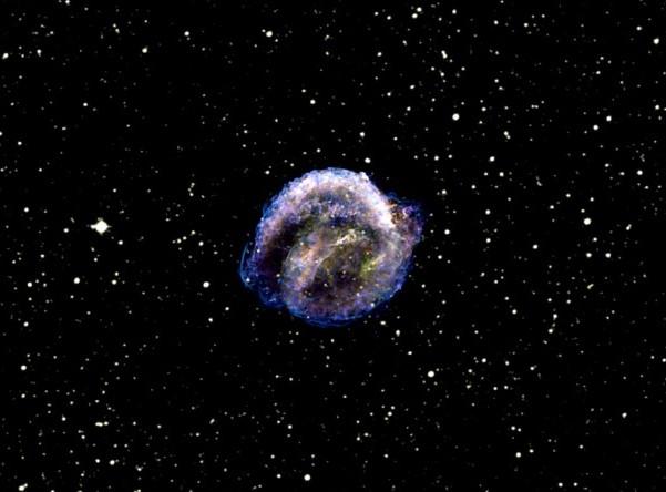 Сверхновая Кеплера. Фото NASA/CXC/NCSU/S.Reynolds et al.