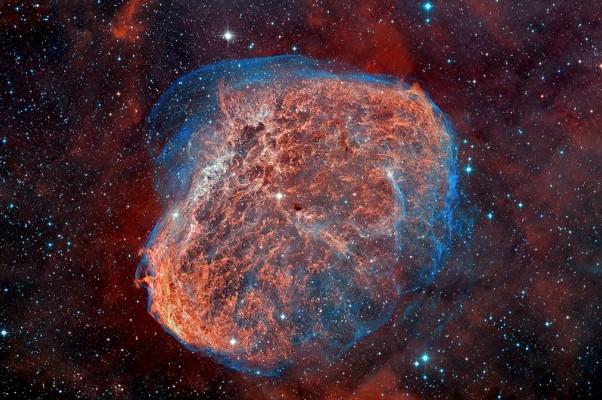 Туманность NGC 6888. Фото D. Lopez (IAC)