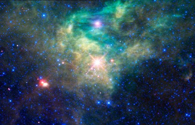 Звездное скопление AFGL 490.