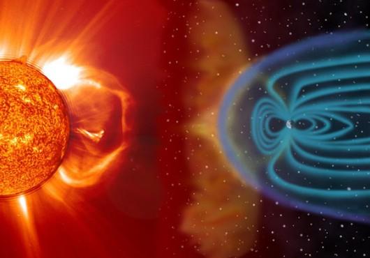 Магнитосфера Земли. Иллюстрация SOHO/NASA/ESA