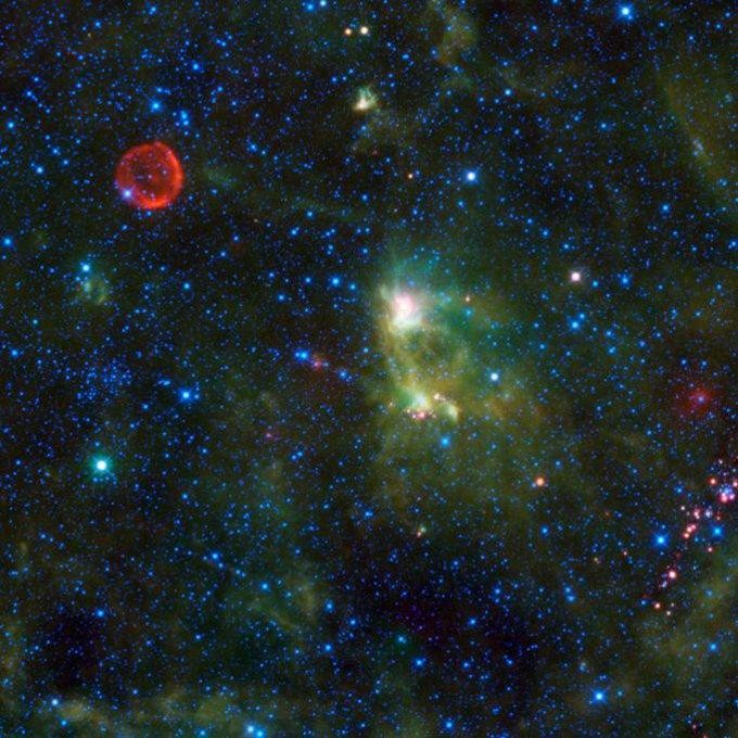 Туманность S175 и сверхновая SN 1572.