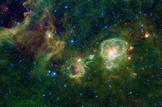 Облака молекулярного газа Vela A.
