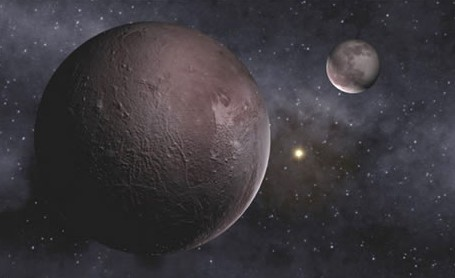 Плутон и Харон. Иллюстрация NASA