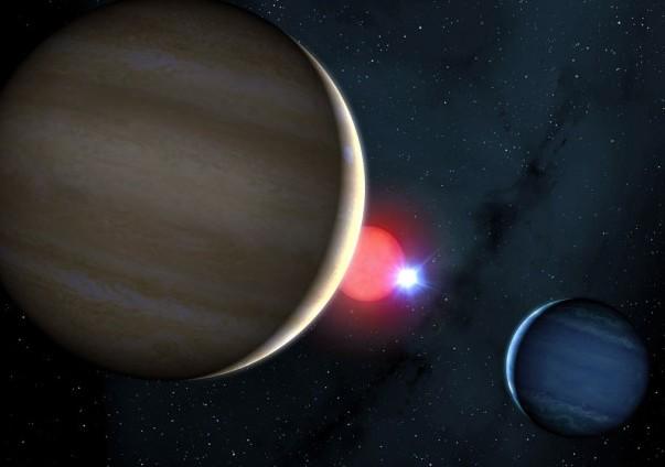 Астрономы сравнили звездную систему NN Serpentis с космическим снукером
