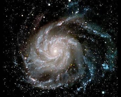 Галактика Вертушка имеет выпрямленные участки в рукавах. Возможно, как и Млечный Путь. Фото: НАСА.