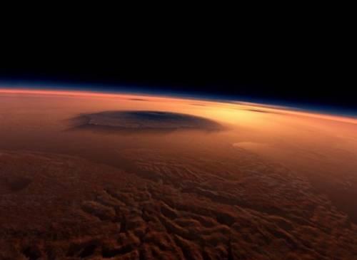 Марс. Иллюстрация NASA