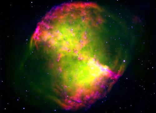 Туманность Гантель. Фото ESO