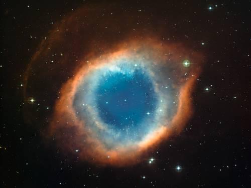 Планетарная туманность Улитка, или NGC 7293. Фото ESO