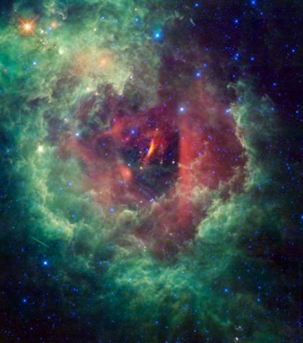 Туманность Розетка (NGC 2237). Фото NASA/JPL-Caltech/UCLA