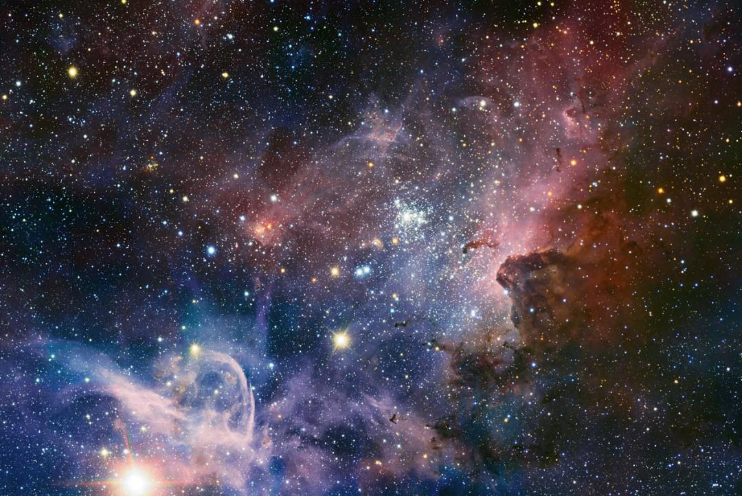 Туманность Киля. Фото ESO/T. Preibisch