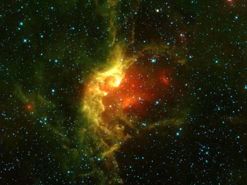 Звездное скопление NGC 7380. Фото NASA/JPL-Caltech/UCLA