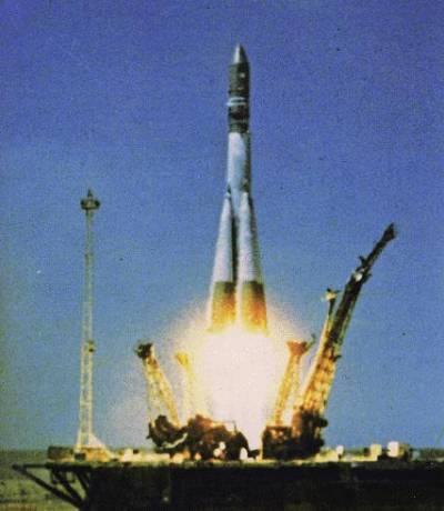 """Старт космического корабля """"Восток-1"""""""
