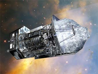 Изображение ESA (Image by AOES Medialab); background: Hubble Space Telescope, NASA/ ESA/ STScI